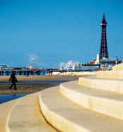 Blackpool Spanish Steps to Sandy Beach
