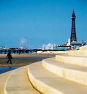 Blackpool Spanish Steps to Sandy Beach