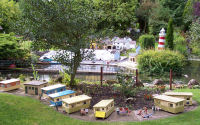 Model Caravan Park in Blackpool Model Village