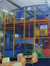 Play Barn slides, ball park, walkways